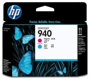 Original HP 940 Magenta & Cyan Printhead Pack (C4901A)