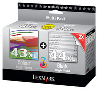 Lexmark Original 44XL and 43XL Twin Pack Black and Colour Cartridges (0080D2966)