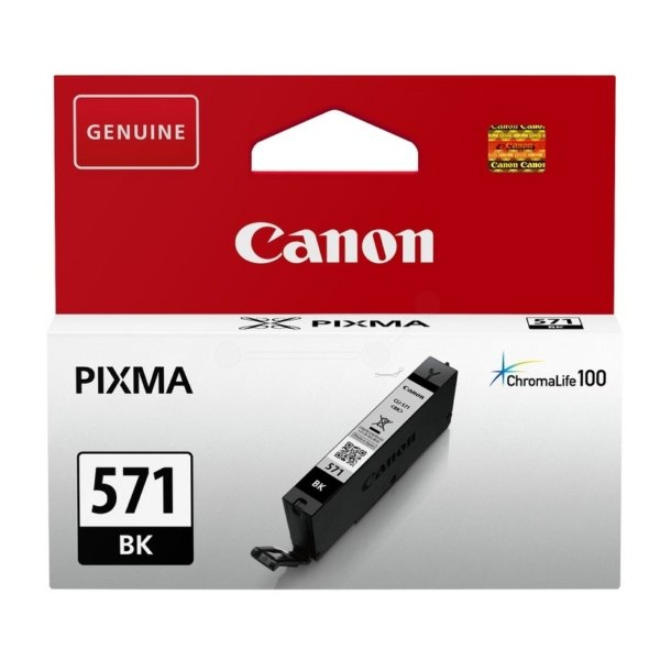 Canon Original CLI-571BK Black Ink Cartridge (0385C001)