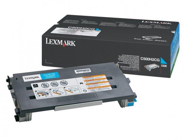 Original Lexmark 0C500H2CG Cyan Toner Cartridge