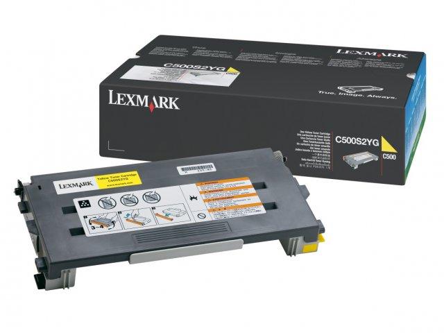 Original Lexmark 0C500S2YG Yellow Toner Cartridge