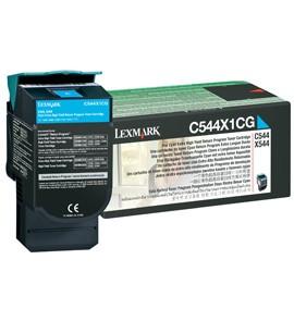 Original Lexmark 0C544X1CG Cyan Toner Cartridge