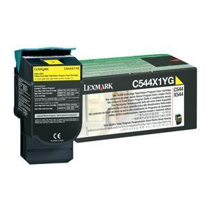 Original Lexmark 0C544X1YG Yellow Toner Cartridge