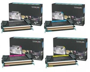Lexmark Original 0C734A1 Toner Cartridge Multipack (Black/Cyan/Magenta/Yellow)