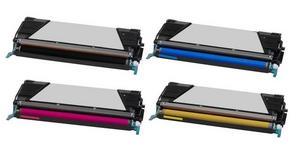 Compatible Lexmark 0C734A1 Set Of 4 Toner Cartridges (Black,Cyan,Magenta,Yellow)