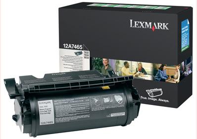 Original Lexmark 12A7465 Black Toner Cartridge