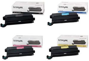 Lexmark Original 12N07 Toner Cartridge Multipack (Black/Cyan/Magenta/Yellow)