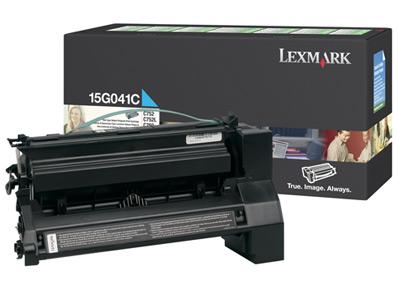 Original Lexmark 15G041C Cyan Toner Cartridge