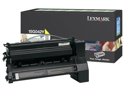 Original Lexmark 15G042Y Yellow Toner Cartridge