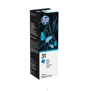 Original HP 31 Cyan Ink Bottle (1VU26AE)