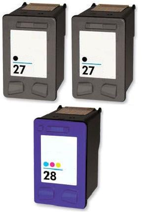 Remanufactured HP 27 Black and HP 28 Colour Ink Cartridges + EXTRA BLACK