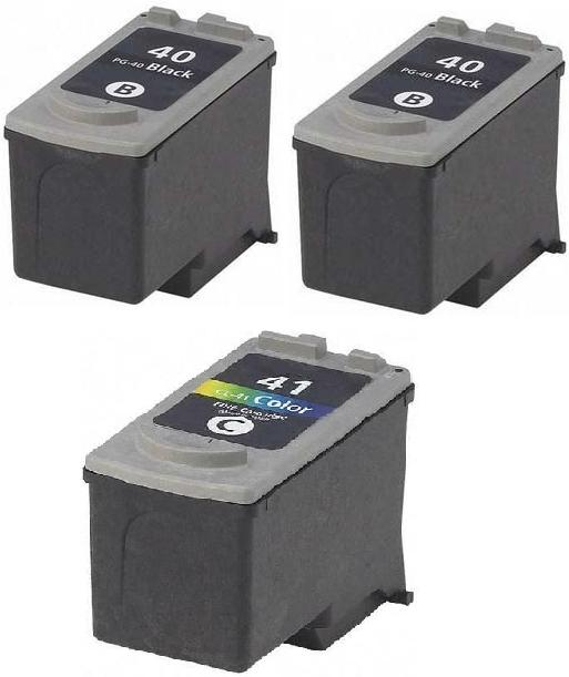 2 x Canon PG-40 Black and 1 x CL-41 Colour Remanufactured Ink Cartridges
