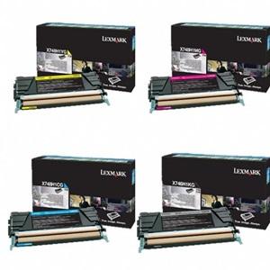 Original Lexmark 24B57 4 Colour Toner Cartridge Multipack (Black/Cyan/Magenta/Yellow)