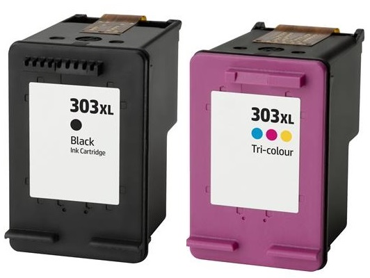 Remanufactured HP 303XL Black & 303XL Colour High Capacity Ink Cartridges