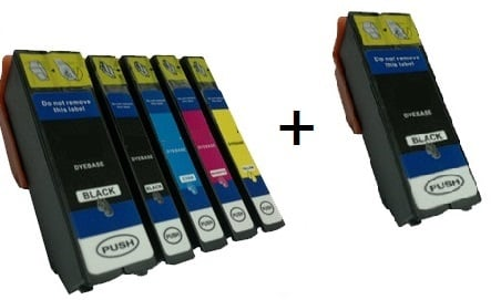 Compatible Epson 33XL High Capacity Ink Cartridges Full Set of 5 + EXTRA BLACK - (2 x Black, 1 x Photo Black, Cyan, Magenta, Yellow)
