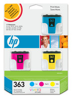 HP 363 Original Ink Cartridges 3 Pack OEM: CB333EE