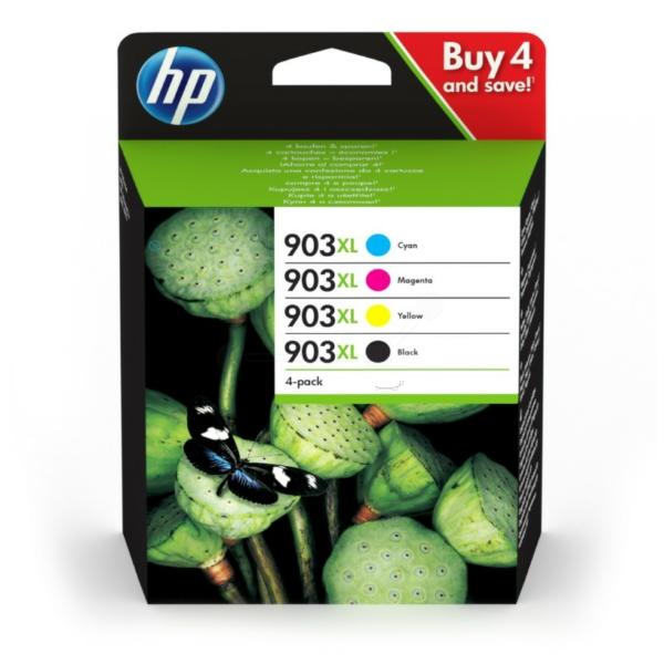 HP Original 903XL Combo Pack of 4 Ink Cartridges - Black/Cyan/Magenta/Yellow