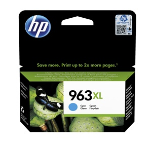 Original HP 963XL Cyan High Capacity Inkjet Cartridge (3JA27AE)