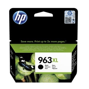 Original HP 963XL Black High Capacity Inkjet Cartridge (3JA30AE)
