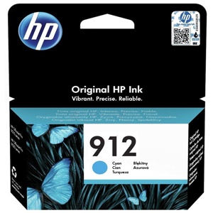 Original HP 912 Cyan Inkjet Cartridge (3YL77AE)