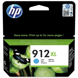 Original HP 912XL Cyan High Capacity Inkjet Cartridge (3YL81AE)