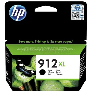 Original HP 912XL Black High Capacity Inkjet Cartridge (3YL84AE)