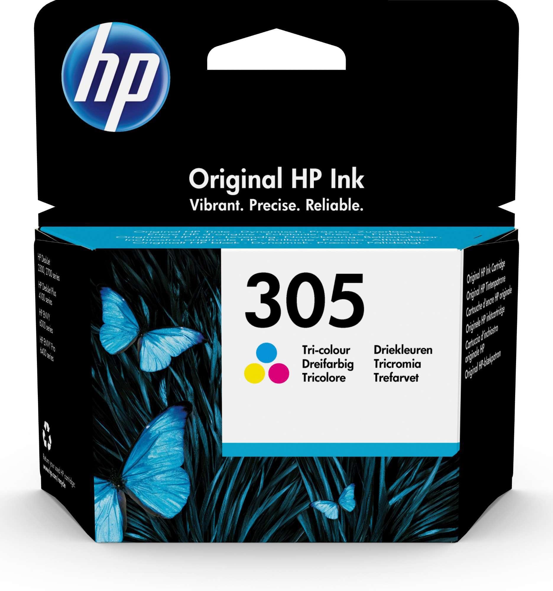 HP Original 305 Tri-Colour Inkjet Cartridge 3YM60AE
