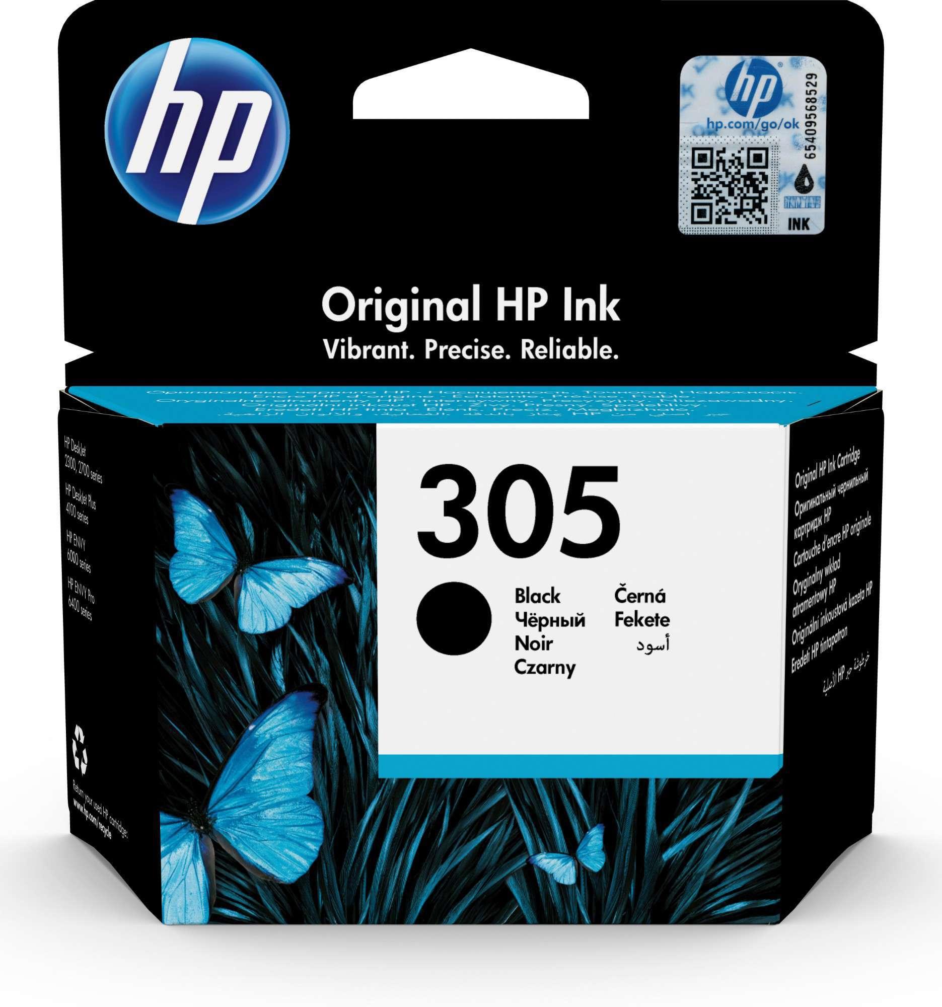 HP Original 305 Black Inkjet Cartridge 3YM61AE