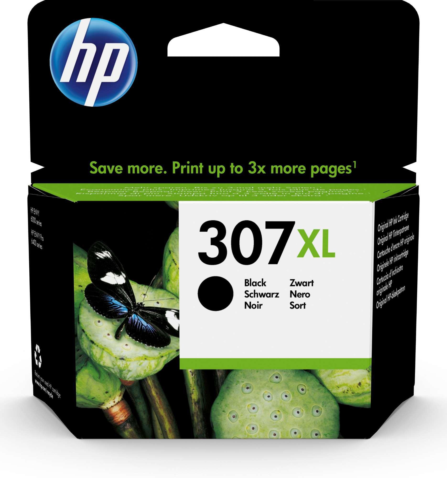 HP Original 307XL Black High Capacity Inkjet Cartridge 3YM64AE