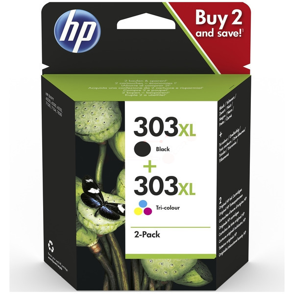 HP Original 303XL Black & Tri-Colour Ink Cartridge Multipack (3YN10AE)