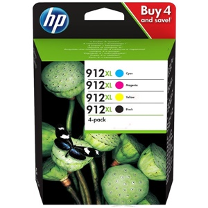 Original HP 912XL 4 Colour High Capacity Inkjet Cartridge Multipack (3YP34AE)