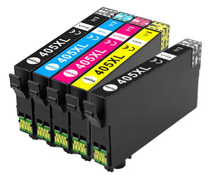 Epson Compatible 405XL High Capacity Ink Cartridges Full Set & EXTRA BLACK - (2 x Black, 1 x Cyan, Magenta, Yellow)