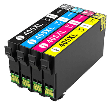 Epson Compatible 405XL High Capacity Ink Cartridges Full Set - (Black, Cyan, Magenta, Yellow)
