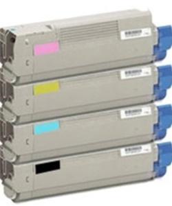 Compatible Oki 4196360 Set Of 4 Toner Cartridges (Black,Cyan,Magenta,Yellow)