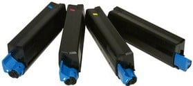 Compatible OKI 4212740 Set Of 4 Toner Cartridges (Black,Cyan,Magenta,Yellow)