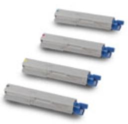 Oki Original 434593 High Capacity Toner Cartridge Multipack (Black/Cyan/Magenta/Yellow)