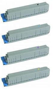 Oki 434877 Compatible Toner Cartridge Multipack (43487712/11/10/09)