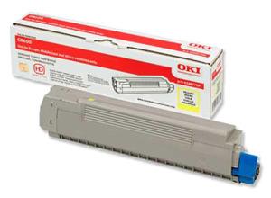 Original Oki 43487709 Yellow Toner Cartridge