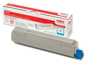 Original Oki 43487711 Cyan Toner Cartridge