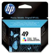 Original HP No.49 Tri Colour Ink Cartridge (51649AE)