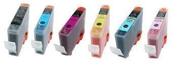 Canon BCI-5 Compatible Cartridges Full Set of 6 (Black/Cyan/Magenta/Yellow/Photo Cyan/Photo Magenta)