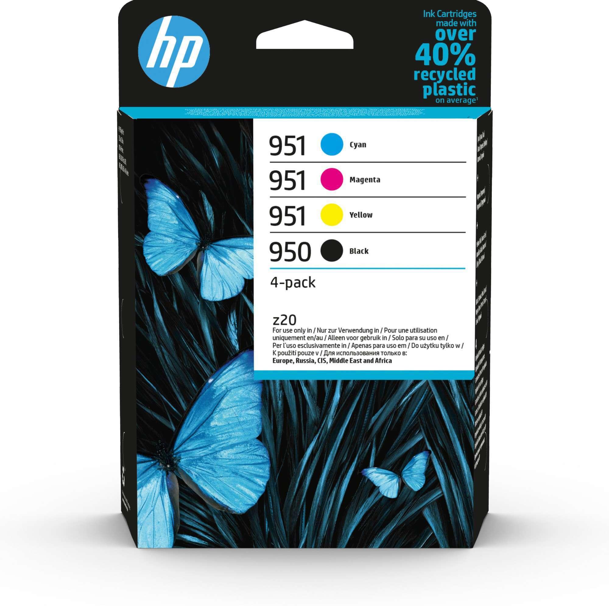 HP Original 950/951 Combo Pack Of 4 Ink Cartridges (Black/Cyan/Magenta/Yellow)