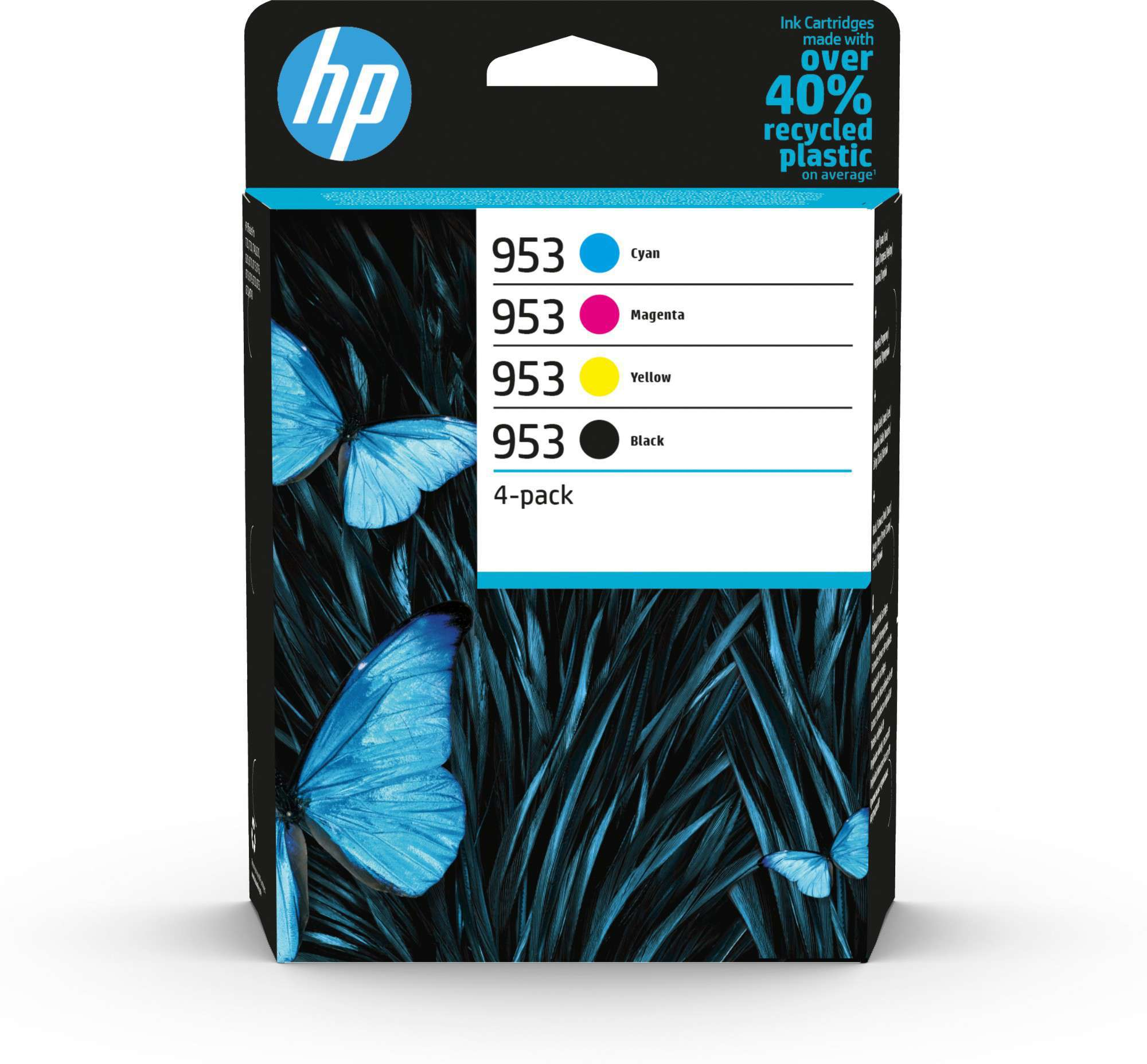 HP Original 953 Combo Pack Of 4 Ink Cartridges (Black/Cyan/Magenta/Yellow)