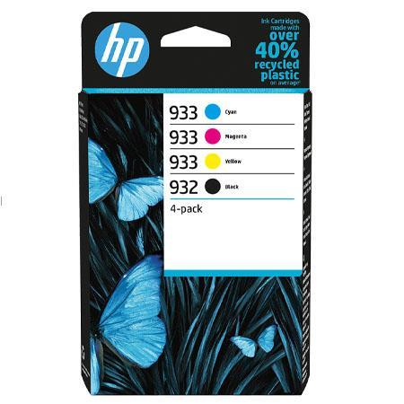 HP Original 932/933 Combo Pack Of 4 Ink Cartridges (Black/Cyan/Magenta/Yellow)