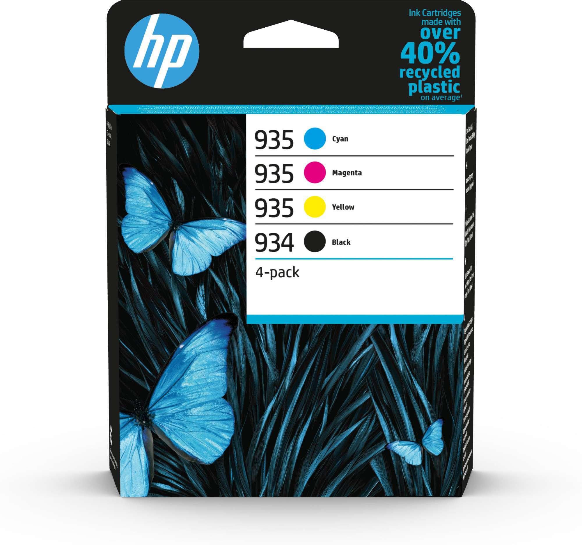 HP Original 934/935 Combo Pack Of 4 Ink Cartridges (Black/Cyan/Magenta/Yellow)