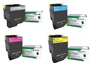 Original Lexmark 71B2H 4 Colour High Capacity Toner Cartridge Multipack (Black/Cyan/Magenta/Yellow)
