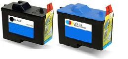 Dell 7Y743 High Capacity Black and 7Y745 High Capacity Colour Remanufactured Ink Cartridges (Series 2)