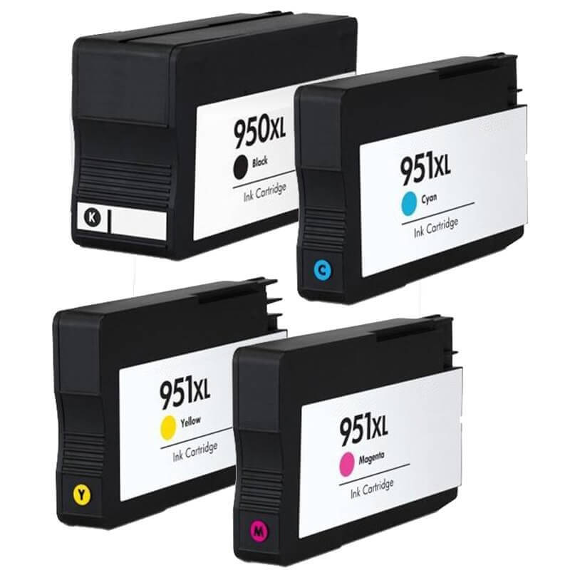 Compatible HP 950XL/951XL set of 4 Ink Cartridges Black/Cyan/Magenta/Yellow