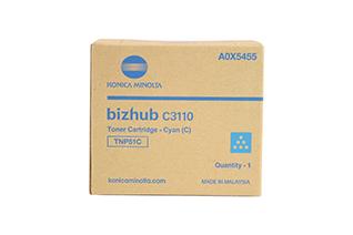 Original Konica Minolta TNP51C Cyan Toner Cartridge A0X5455