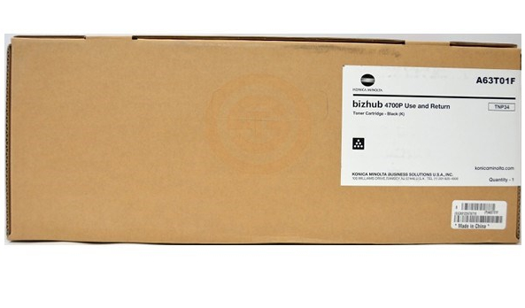 Original Konica Minolta TNP34 Black Toner Cartridge A63T01H